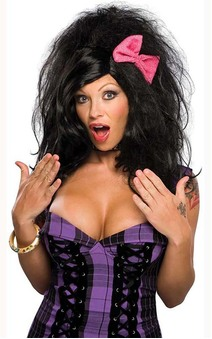 Rock Out Amy Winehouse Adult Black Wig