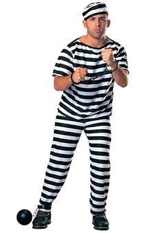Prisoner Convict Mens Adult Costume
