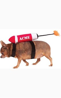 Acme Tnt Dynamite Pet Dog Costume