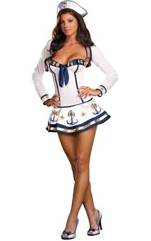 Making Waves Sexy Navy Sailor Adult Costume