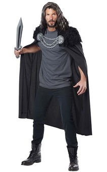 Wolf Clan Warrior Cape Adult Viking Costume