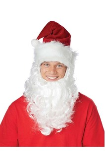 Santa Claus Hat & Beard Costume Accessory