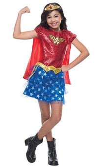 Wonder Woman Tutu Child Sequin Costume