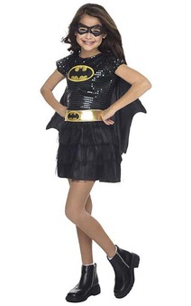 Batgirl Tutu Dress Child Sequin Costume