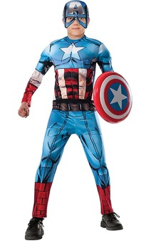 Deluxe Captain America Child Costume