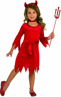 Devil Girl Dress Child Costume