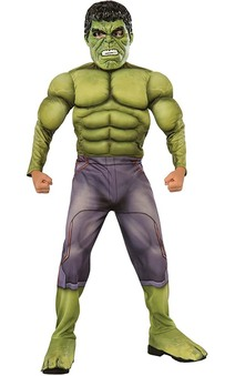 Deluxe Muscle Chest Hulk Child Costume