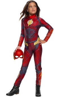 Girls Justice League Flash Child Costume
