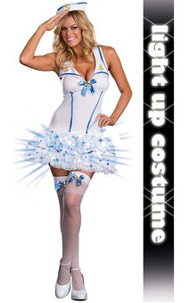 Adult Sexy Navy Sailors Delight Light Up Costume