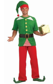 Santas Helper Elf Christmas Adult Costume