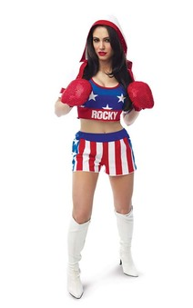 Boxer Babe Rocky Balboa Adults Costume