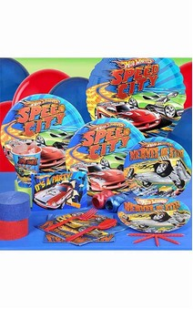 8 Person Hot Wheels Party Pack