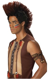 American Indian Native Warrior Mohawk Wig