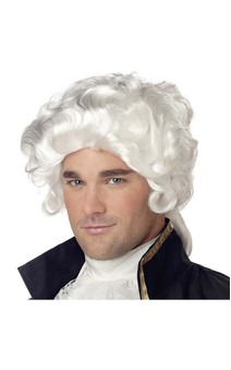 Colonial Man Adult Wig