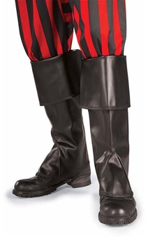 Child Pirate Santa Black Boot Tops