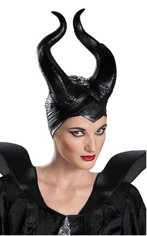 Deluxe Maleficent Horns Adult Costume