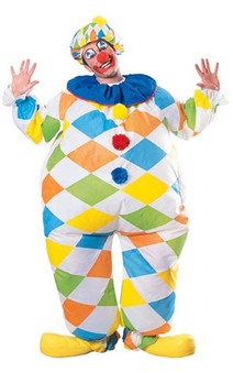Circus Clown Inflatable Adult Costume
