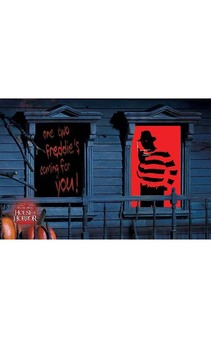 Freddy Krueger Window Silhouettes Decal Decoration