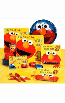 Sesame Street Elmo 1st Birthday 16 Person Party Pack