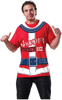 Naughty Is The New Nice Santa Tshirt