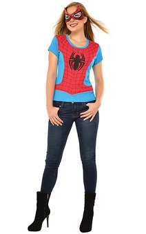 Spider-girl Adult Spiderman T-shirt