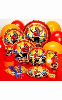 8 Person Power Rangers Party Pack