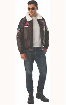 Deluxe Top Gun Adults Bomber Jacket