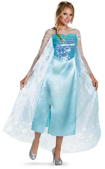 Deluxe Elsa Frozen Adult Costume