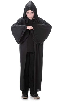 Sith Lord Black Hooded Robe Like Star Wars