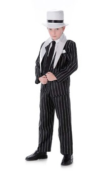 Al Capone Gangster Boss Child Mafia Costume