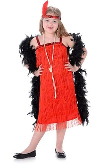 Red Flapper Child Gatsby Costume