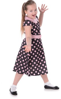 1950s Rock N Roll Girl Child Costume