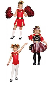 3-in-1 Cheerleader / Gymnast / Pirate Child Costume