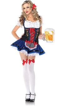Frauline Oktoberfest Beer Wench Adults Costume