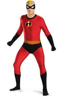 Mr Incredible Bodysuit Second Skin Adult Costume