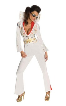 Sexy Miss Elvis Adult Rock N Roll Costume