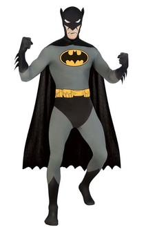 Batman 2nd Second Skin Bodysuit Adult Costume