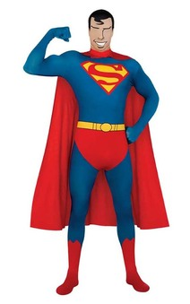 Superman 2nd Second Skin Bodysuit Adult Costume