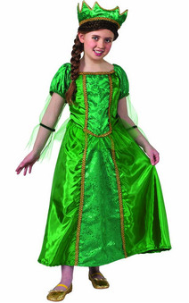 Green Queen Child Renaissance Costume