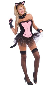 Corset Sexy Kitty Adult Costume