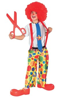Chuckle King Child Clown Costume