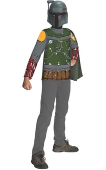Boba Fett Child Star Wars Costume Top T-shirt & Mask