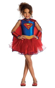 Supergirl Tutu Toddler Child Super Hero Costume