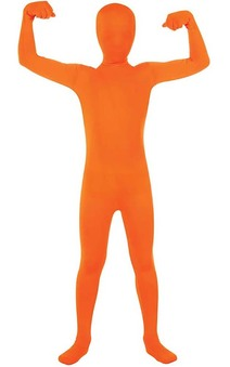 Orange 2nd Skin Suit Child Costume