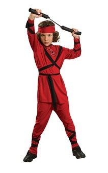 Red Ninja Martial Arts Child Costume