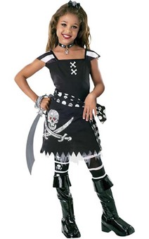 Scar-let Child Pirate Costume