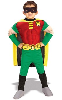 Robin Batman Deluxe Muscle Chest Child Costume