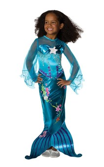 Blue Magical Mermaid Child Toddler Fish Costume