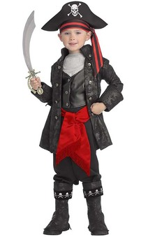 Captain Black Pirate Child Costume