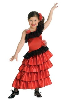 Spanish Princess Flamenco Dancer Child Costume